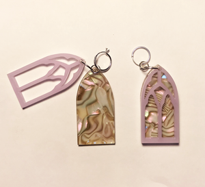 earrings, emma pryde, handmade, church window, tortoise, shop kathleen, kathleen, los angeles