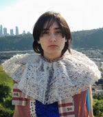 Load image into Gallery viewer, JRAT, Janelle Rabbott, zero waste, collar, lace collar, clown collar,, USustainable, Bonnet, Kathleen, Shop Kathleen, Boutique, Ugly House on the Prairie, Los Angeles, One of a Kind
