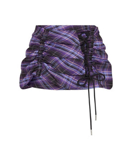 Ruched Mini Skirt - Deep Purple