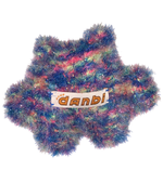 Load image into Gallery viewer, Soft sculpture, art object, crochet teddy, art teddy, handmade in los angeles, handmade toy, green teddy, lisa danbi park, danbi, kathleen, kathleen los angeles, los angeles boutique, independent artist, independent fashion, sparkly teddy, teddy buddy, rainbow teddy