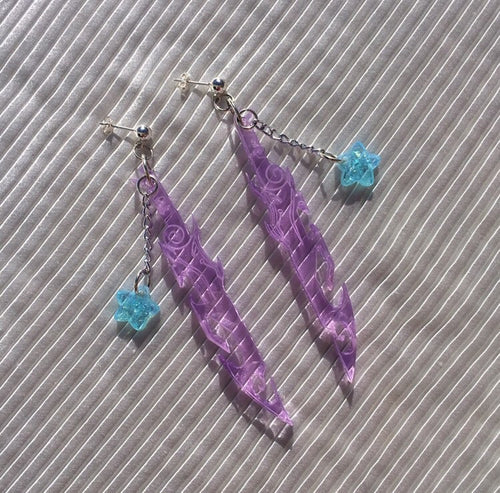 Emma Pryde Purple Sword Earrings