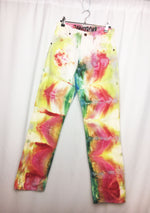 Load image into Gallery viewer, zak syroka jeans, wranger, jeans, denim, 420calories, tie-dye, kathleen, shop kathleen, los angeles