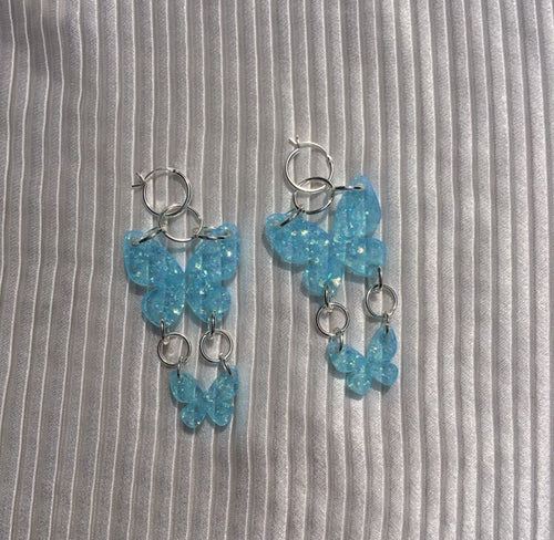 earrings, emma pryde, handmade, double butterfly earring