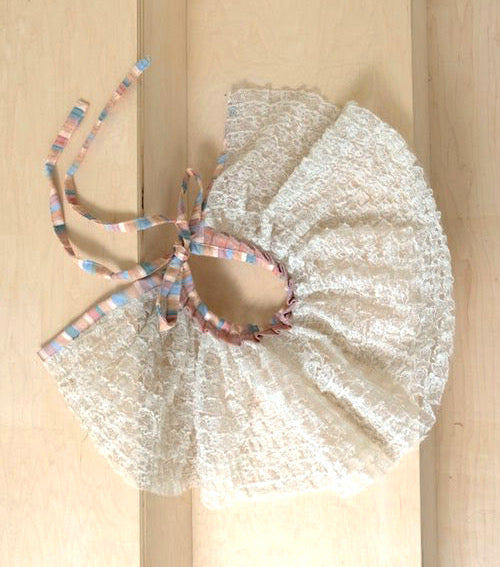 JRAT, Janelle Rabbott, zero waste, collar, lace collar, clown collar,, USustainable, Bonnet, Kathleen, Shop Kathleen, Boutique, Ugly House on the Prairie, Los Angeles, One of a Kind