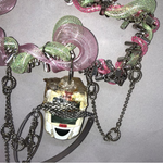 Load image into Gallery viewer, necklaces, upcycled, sustainable jewelry, south korean jewelry, kathleen, kathleen los angeles, los angeles boutique, artist jewelry, eqeqpe, choker, upcycled necklace