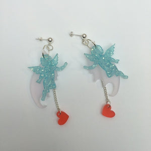 earrings, emma pryde, handmade, fallen angel