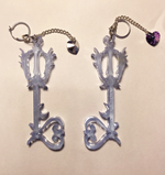 Load image into Gallery viewer, earrings, emma pryde, handmade, keyblade, kingdom hearts, shop kathleen, kathleen, los angeles