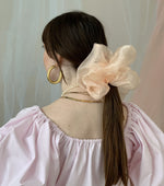 Load image into Gallery viewer, Room Shop Vintage, Scrunchie, Giant Scrunchie, Cloud Scrunchie, Organza, Kathleen, Shop Kathleen, Boutique, Los Angeles, Deadstock