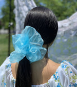 Load image into Gallery viewer, Room Shop Vintage, Scrunchie, Giant Scrunchie, Cloud Scrunchie, Organza, Kathleen, Shop Kathleen, Boutique, Los Angeles, Deadstock, Sustainable Scrunchie