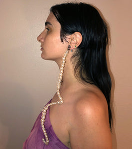 Earrings, Jewelry, Deska, Pearl Earrings, Hand beaded, shop kathleen, kathleen los angeles, kathleen, deska, independent artist, independent designer, los angeles boutique, clip on earrings, pierceless earrings