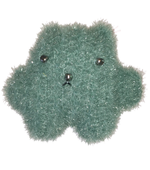 Load image into Gallery viewer, Soft sculpture, art object, crochet teddy, art teddy, handmade in los angeles, handmade toy, green teddy, lisa danbi park, danbi, kathleen, kathleen los angeles, los angeles boutique, independent artist, independent fashion, sparkly teddy, teddy buddy, rainbow teddy, neon teddy, pink teddy, sage teddy