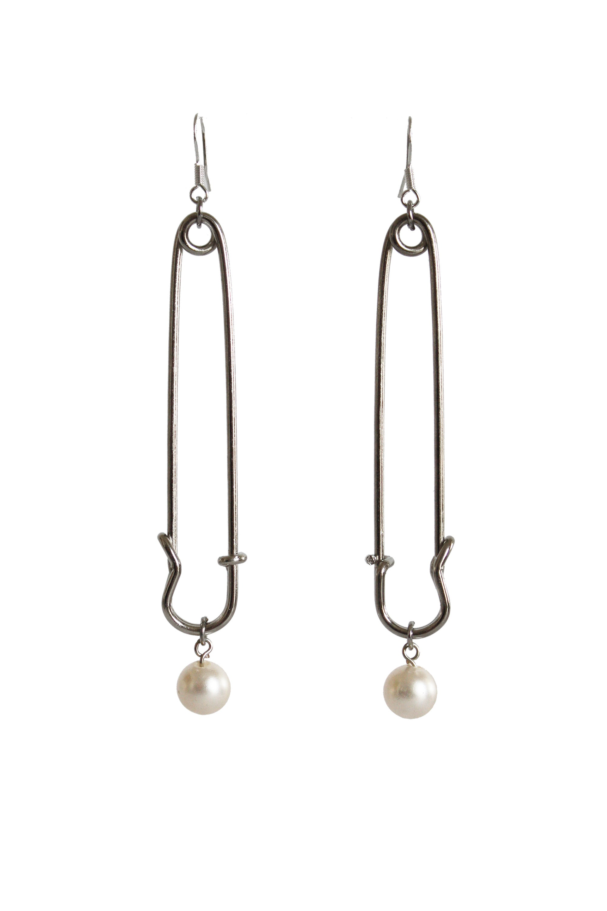 Pin & Pearl Earrings