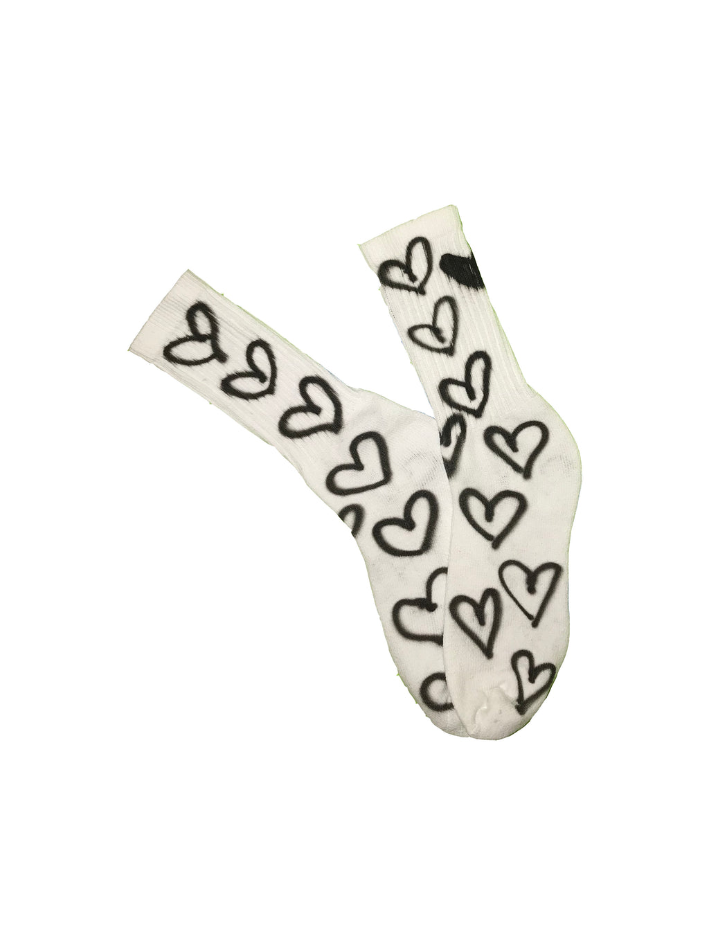 Alexa Stark, airbrush, socks, heart socks, kathleen, los angeles, shop kathleen