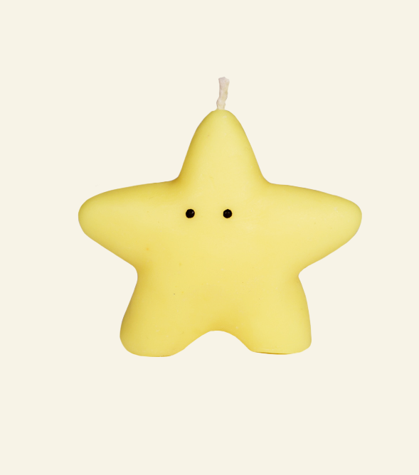 lump shop star candle, candle