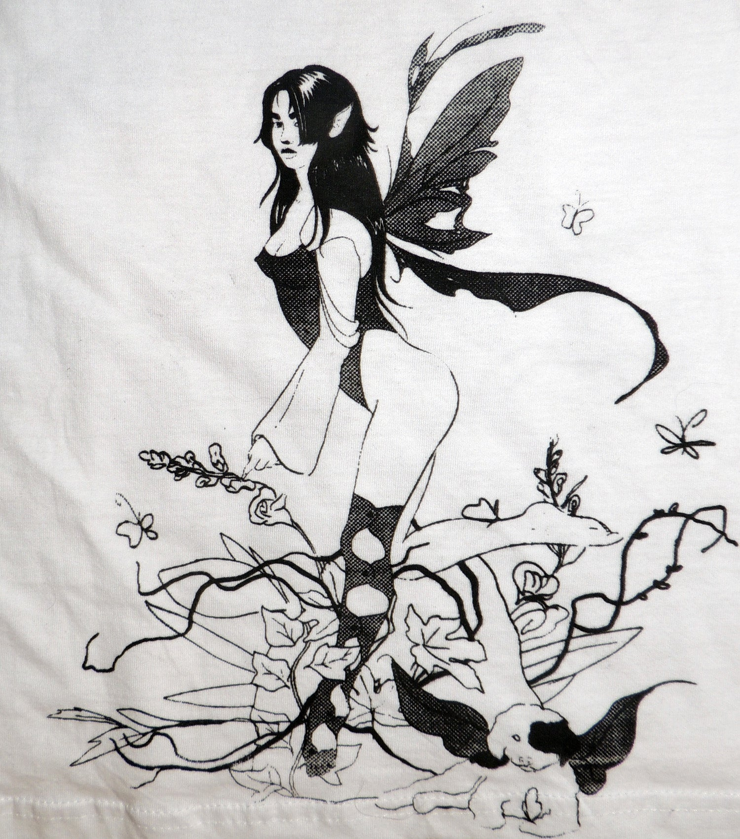 Gabrielle Rosenstein, Elf, Fairy, Dog, Flowers, Screen printed, Vintage, Made in Los Angeles, Second Hand, Sustainable, Kathleen, Kathleen Los Angeles, Independent Boutique, Independent Artist, Los Angeles Boutique, Independent Designer, Los Angeles Artist