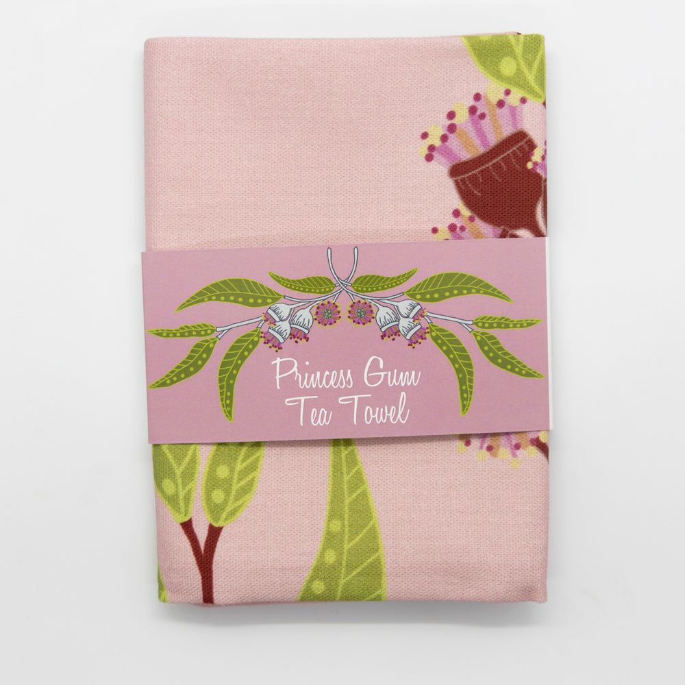 Princess Gum Tea Towel