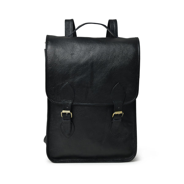 Penny Leather Backpack- Black - DÖTCH CLUB