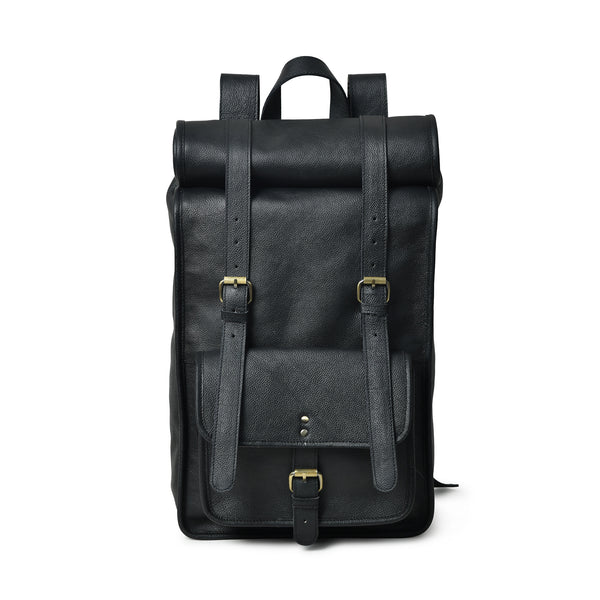 DuVall Rolltop Backpack- Black - DÖTCH CLUB