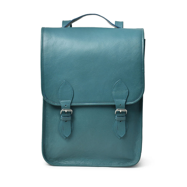 Penny Leather Backpack- Blue - DÖTCH CLUB