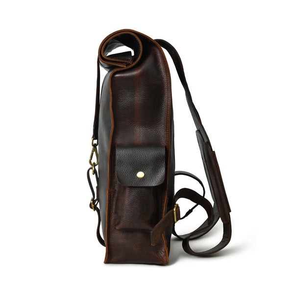 107 Leather Rolltop Backpack- Plumb - DÖTCH CLUB