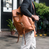 107 Leather Rolltop Backpack- Tan - DÖTCH CLUB