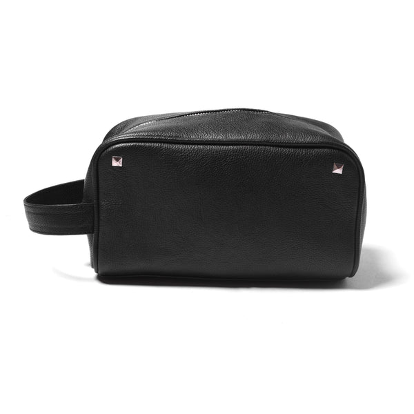 Leather Dopp Kit - Black - DÖTCH CLUB