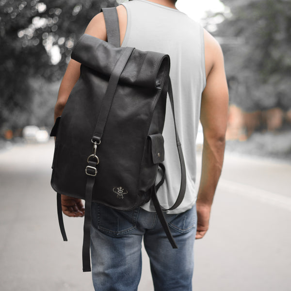 107 Leather Rolltop Backpack - DÖTCH CLUB
