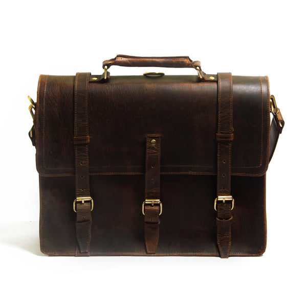 Lakshan Buffalo Leather Satchel Bag - DÖTCH CLUB