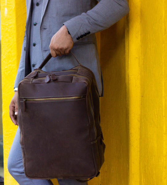 Lepcha Vintage Leather Backpack - DÖTCH CLUB