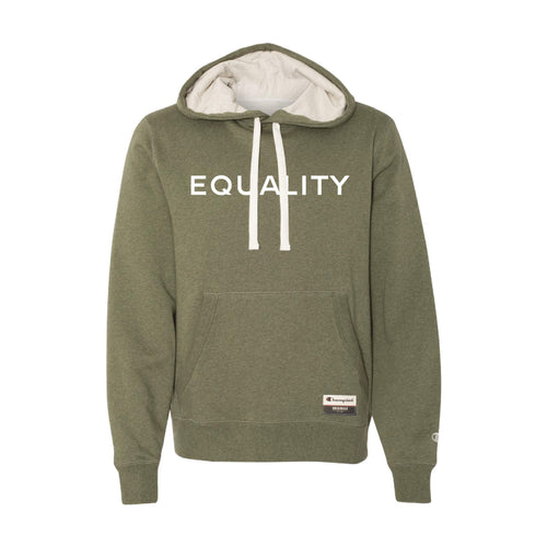 Equality Pullover Sueded Hoodie