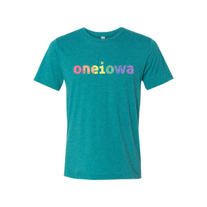 One Iowa Rainbow Glitter Logo Unisex T-Shirt
