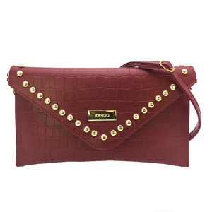 Mini Clutch Chiara Croco Marsala