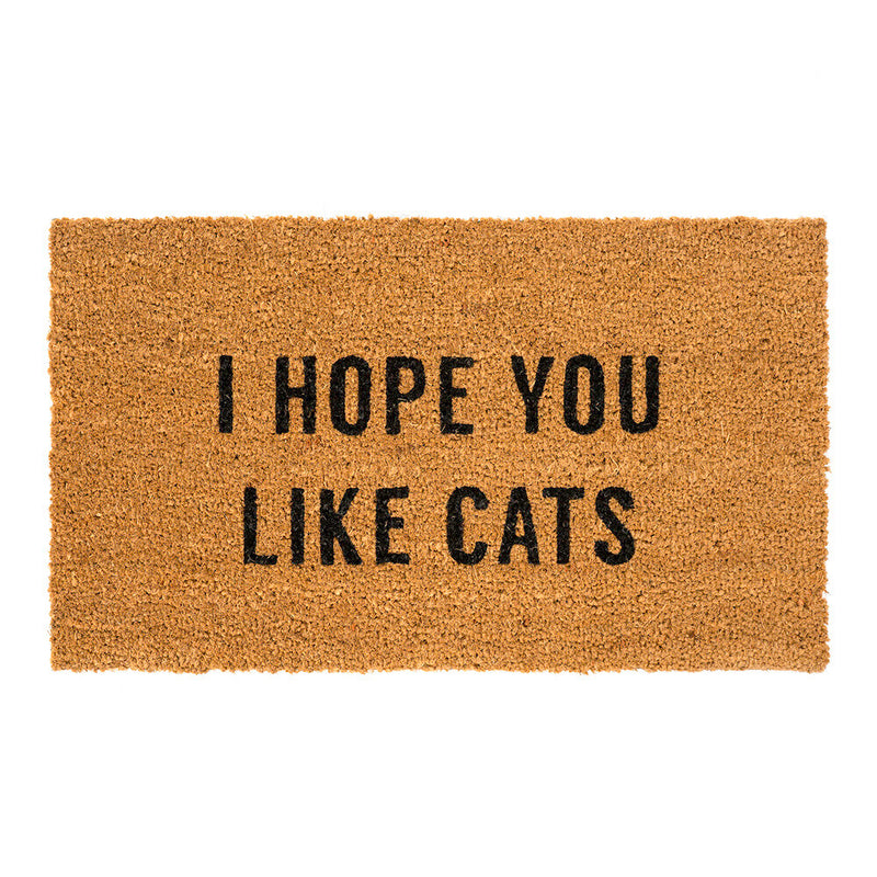 DOORMAT HOPE YOU LIKE CATS