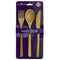 BAMBOO FLATWARE SET OF 3