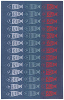 TEA TOWEL JACQUARD LITTLE FISH