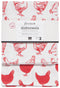 CHICKEN PRINTED FLOURSACK DISHTOWELS (SET OF 2)