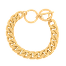 BRACELET: WHEAT-LINK CHAIN (GOLD TONE)