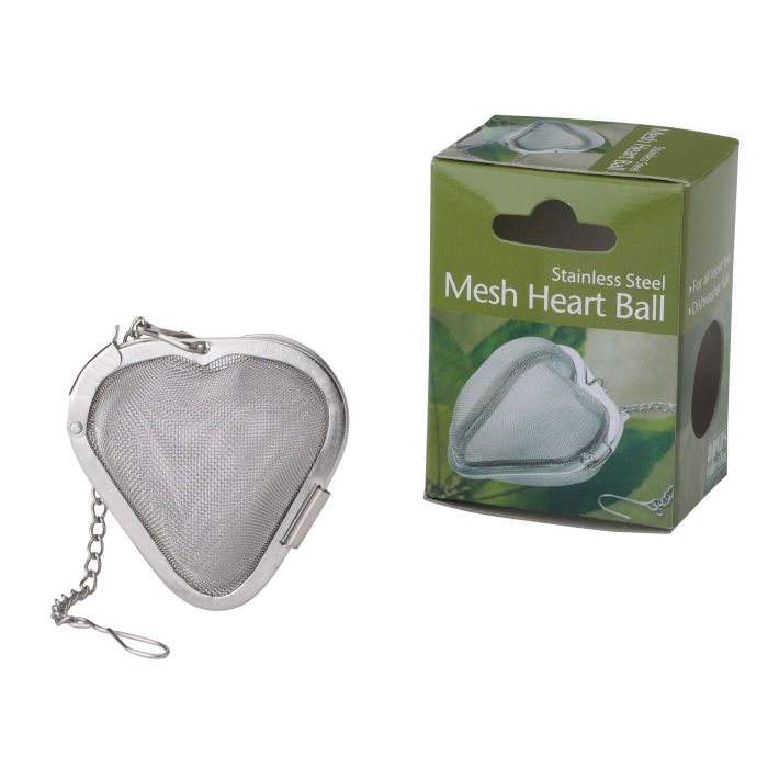 STAINLESS STEEL MESH HEART TEA INFUSER