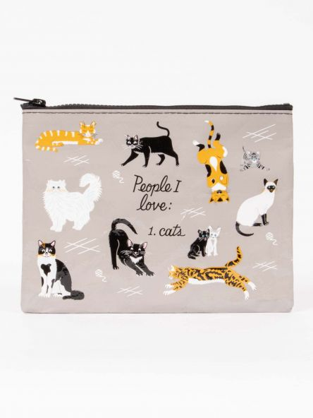 LARGE ZIP POUCH PEOPLE I LOVE: CATS