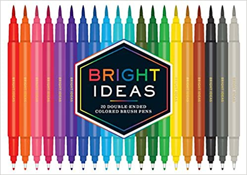 PEN SET BRUSH DOUBLE ENDED BRIGHT IDEAS