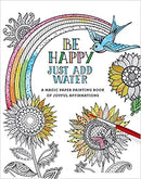 COLORING/PAINTING BOOK BE HAPPY