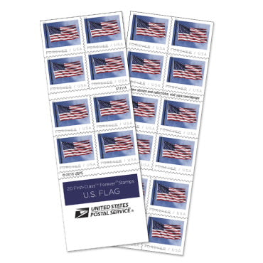 US POSTAGE FOREVER STAMP BOOK OF 20