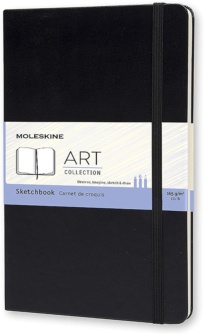 MOLESKINE SKETCH BOOK BLACK LG