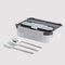 BUILT BENTO BOX GOURMET 3 BLACK/GRAY