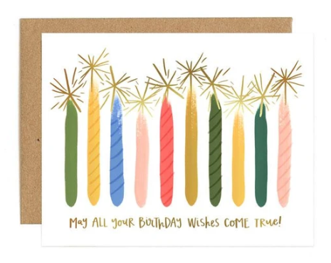 CARD CANDLE BIRTHDAY