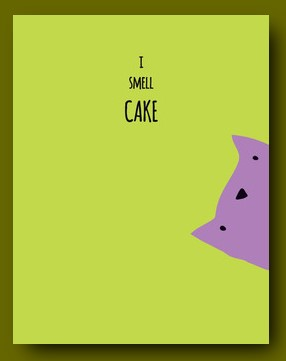 CARD I SMELL CAKE CAT