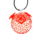 HUMMINGBIRD FEEDER, ROUND RED TEXTURED