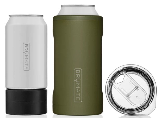 HOPSULATOR TRIO 3-IN-1 CAN COOLER ARMY GREEN