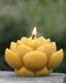 LOTUS FLOWER SHAPED BEESWAX CANDLE