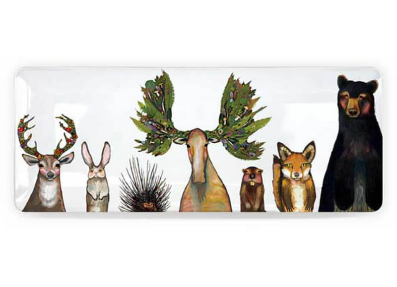 TRAY THE FOREST BUNCH 12X5IN